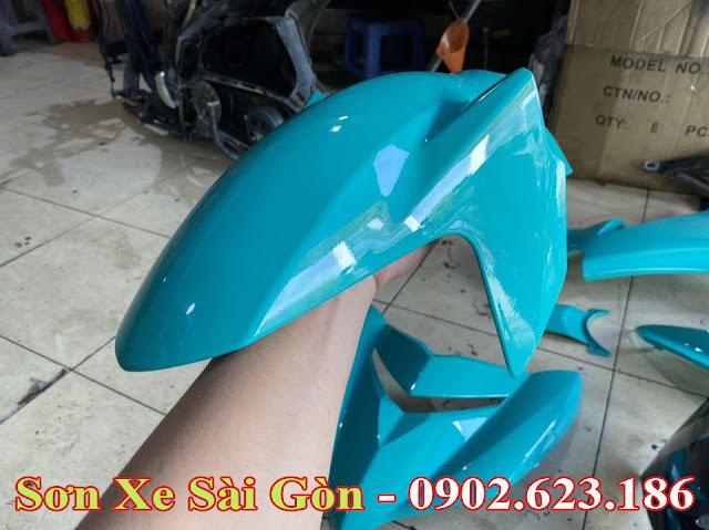 Mẫu Xe Exciter 150 sơn màu xanh ngọc cực đẹp