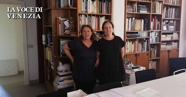 Le sorelle gerotto nel loro laboratorio ''Venice Factory'' a Venezia
