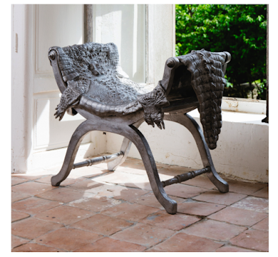 Photo of Crococurule Stool by Claude Lalanne, 2011