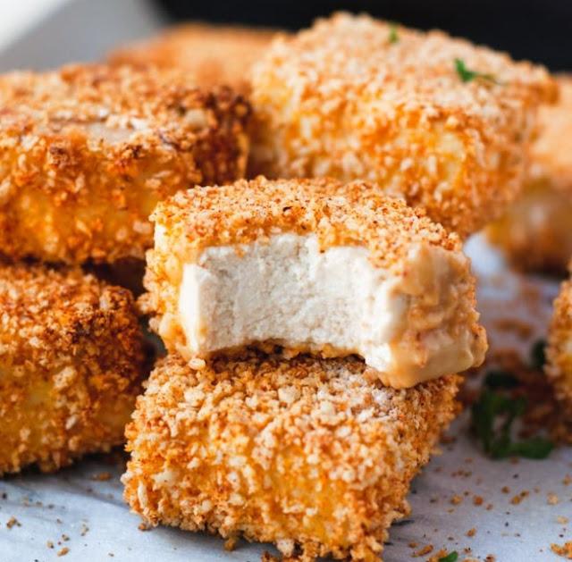 Healthy Vegan Tofu Nuggets #healthy #vegetarian