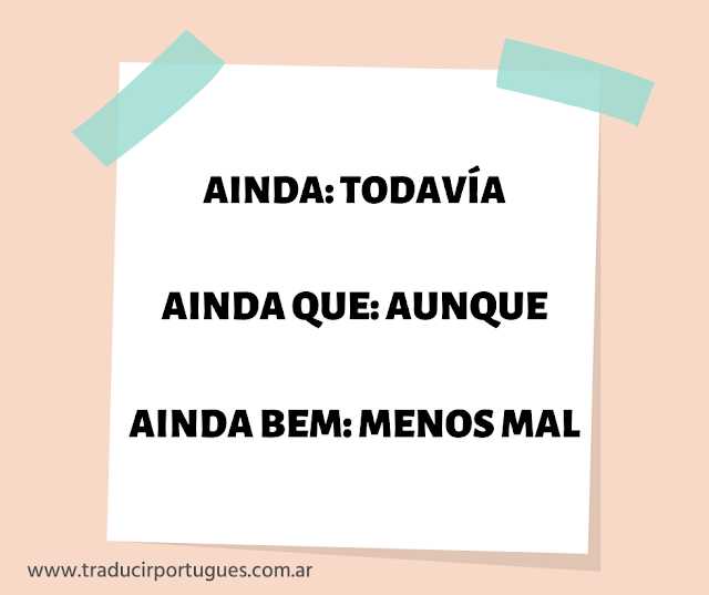 Ainda, ainda que y ainda bem en portugués