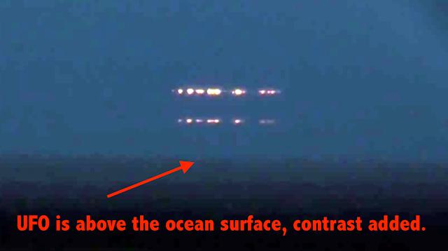 Ovnis sobre el Mar Negro, Krasnodar, Rusia, cuando están en el área prohibida, 11 de noviembre de 2020 2