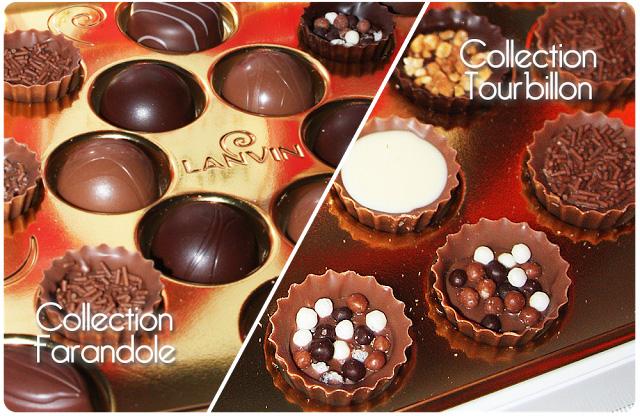 chocolats Lanvin   coffret Farandole et Tourbillon