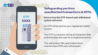 SBI ATM otp withdrawal method