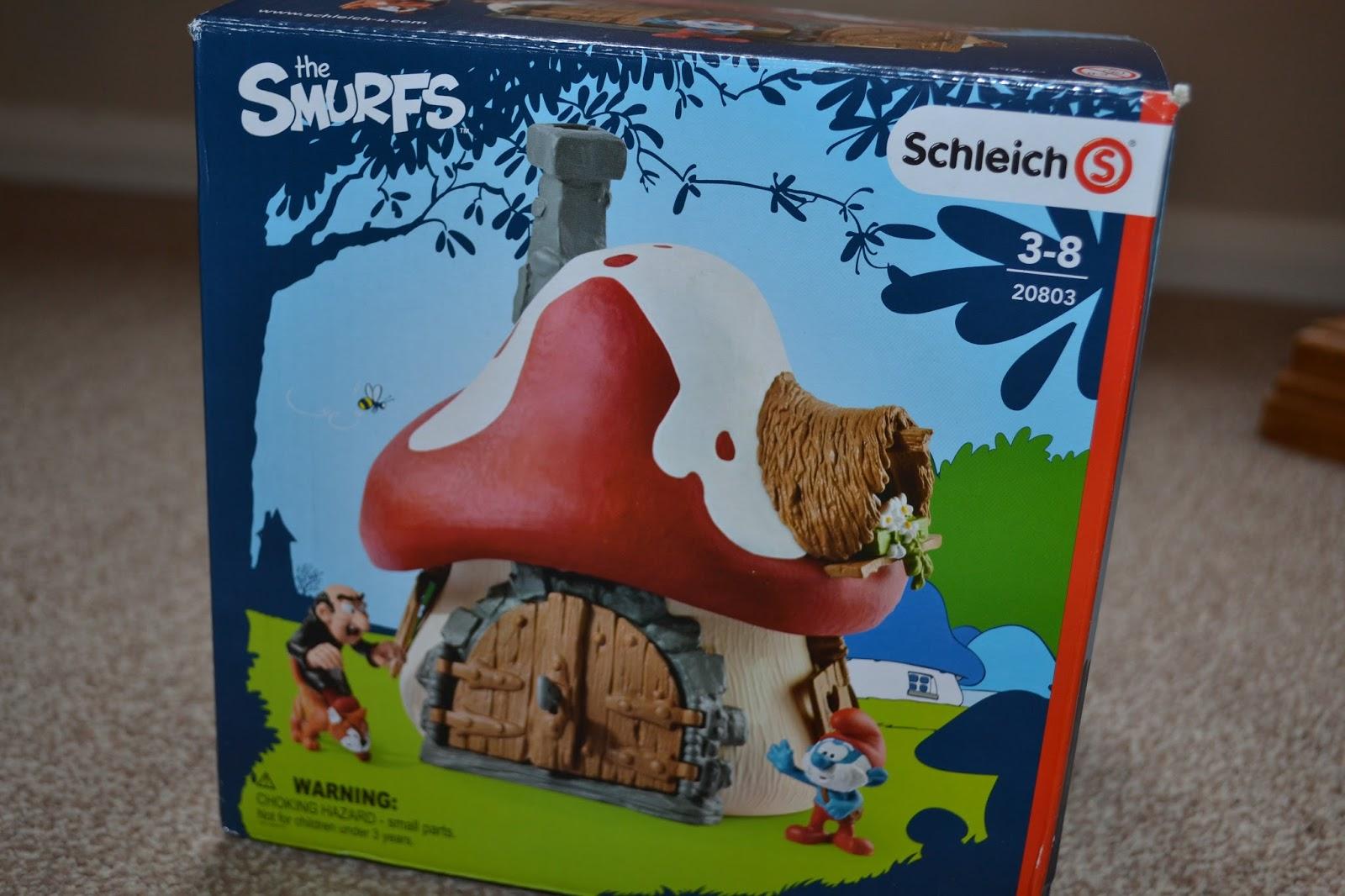 my monkeys don t sit still smurfs from schleich smurf house rh sitstillmonkeys co uk Schleich Smurf Movie Gusty Smurfs Schleich Set
