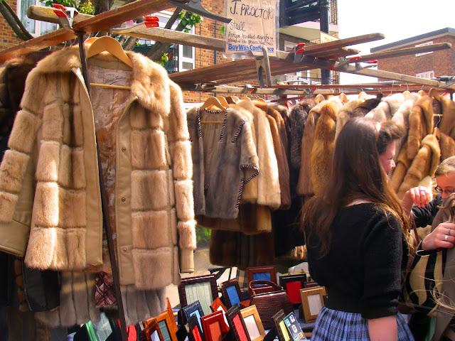 Portobello marknad i London