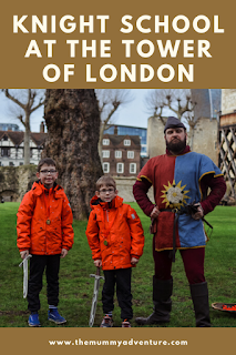 Knight School at the Tower of london, half term activities for kids, London with kids