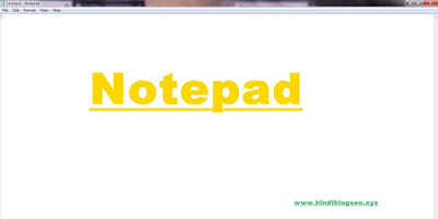 Notepad for typing