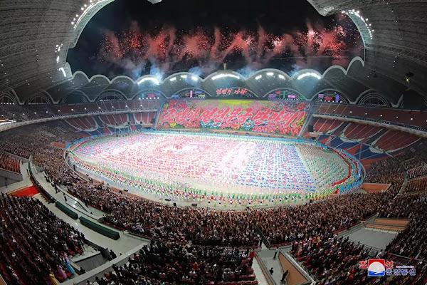 (3) Kim Jong Un at Grand mass gymnastics and artistic performance, June 3, 2019