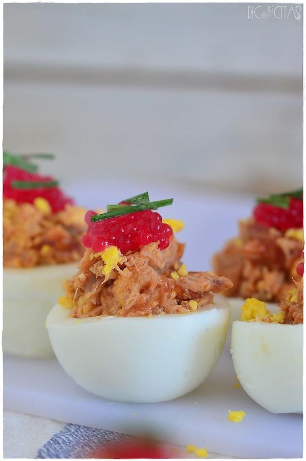 Huevos rellenos los de toda la vida- Huevos rellenos fit- Huevos rellenos 6 recetas fáciles