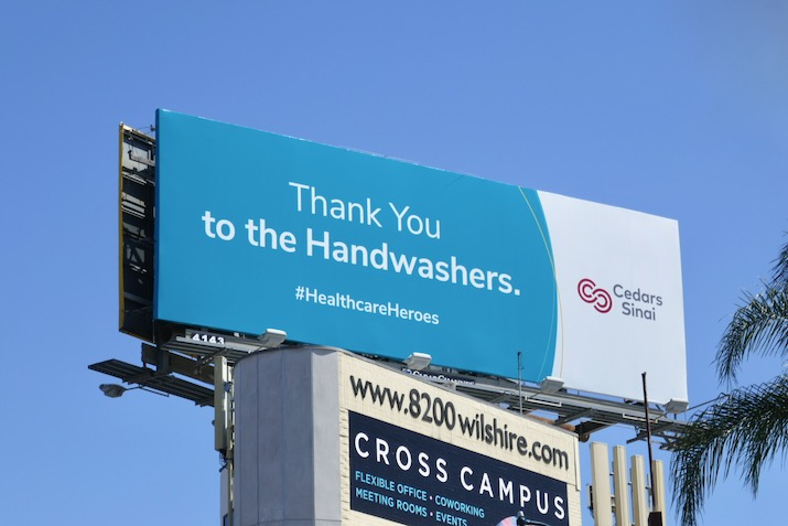 Thank you Handwashers Cedars-Sinai billboard