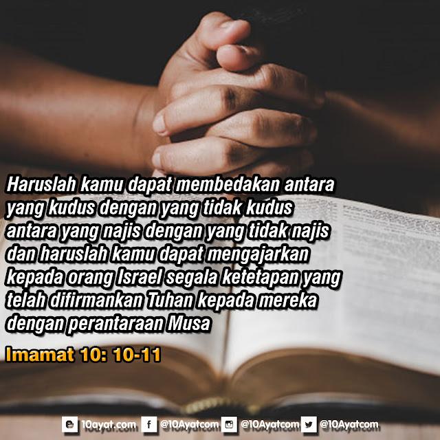 Imamat 10: 10-11