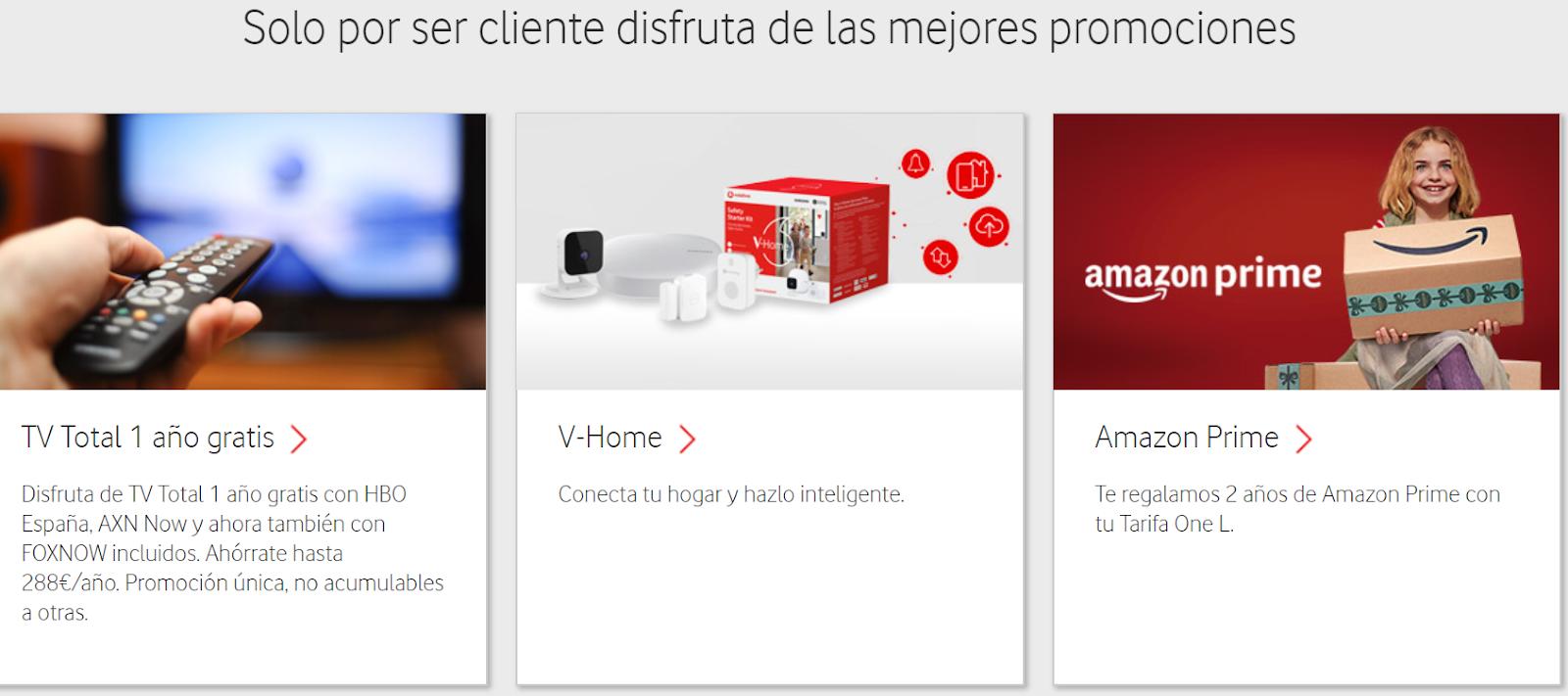 Promoción Vodafone actuales clientes