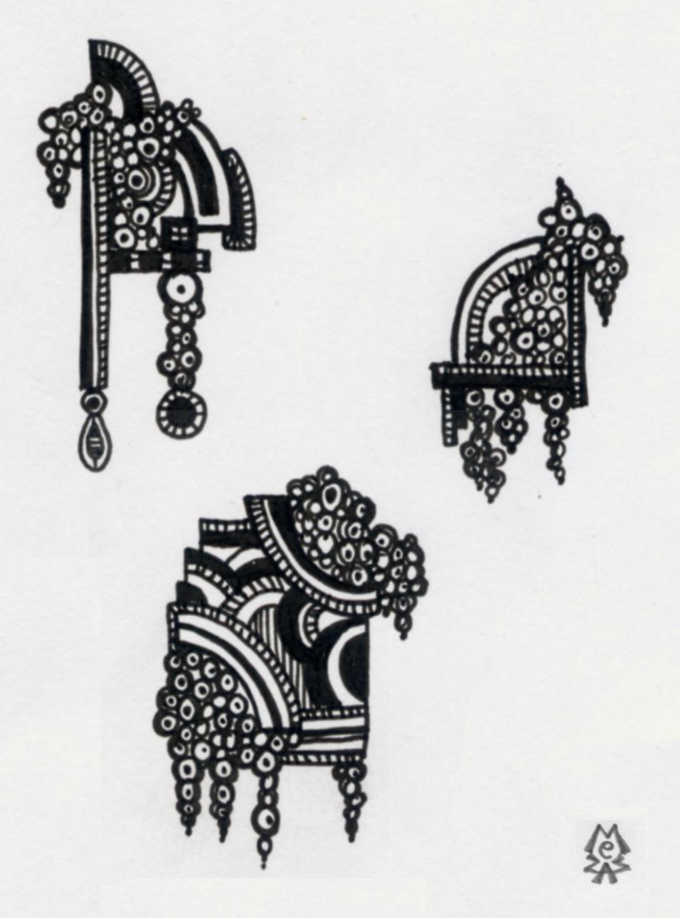 zen doodle thursday art deco melt down mezzamay. Black Bedroom Furniture Sets. Home Design Ideas