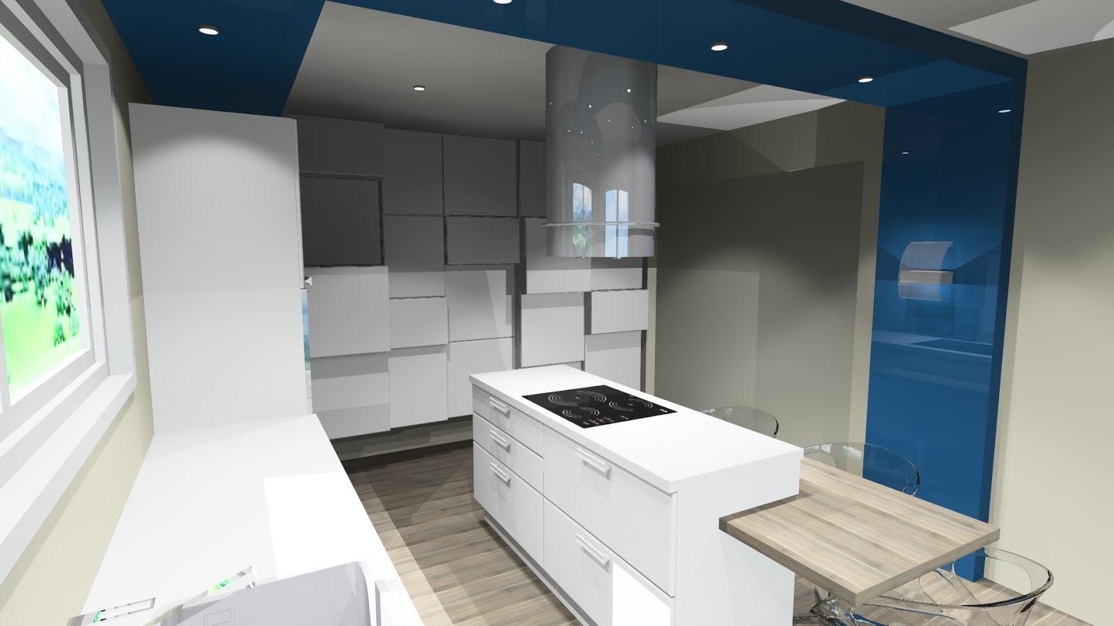 cuisine design blanche. Black Bedroom Furniture Sets. Home Design Ideas