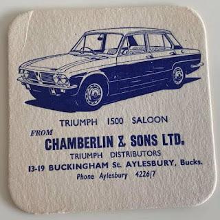 Chamberlin & Sons Ltd Aylesbury beer mat