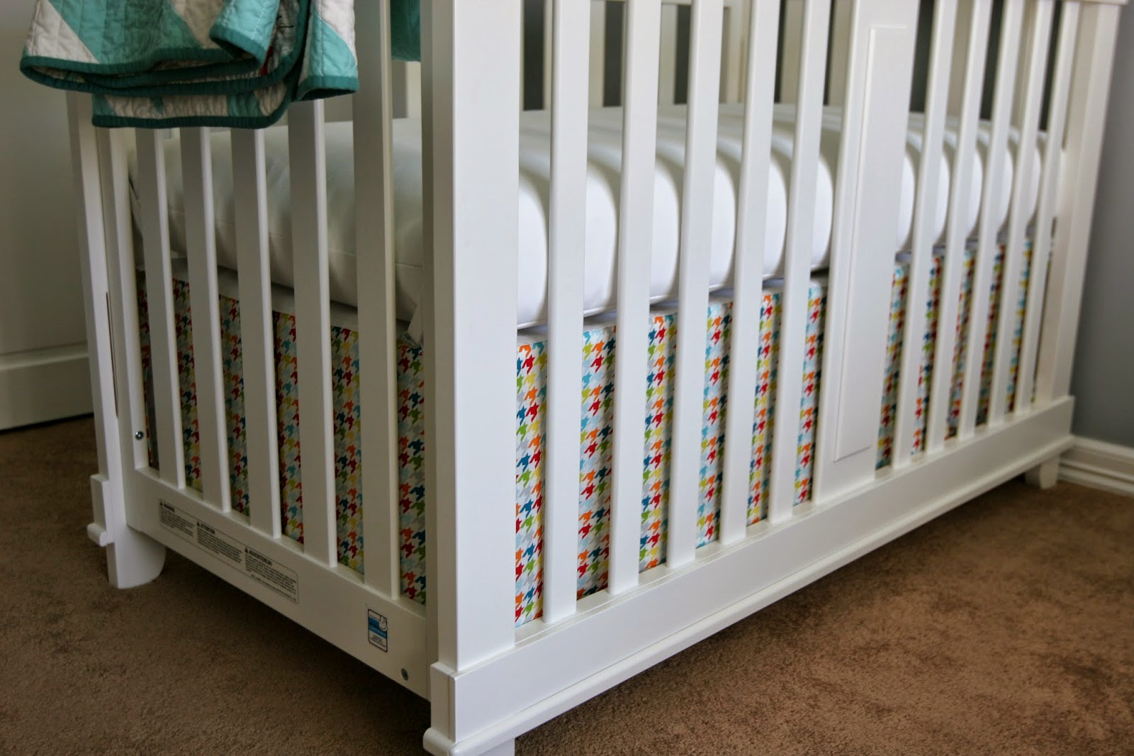 Without A Doubt Diy Crib Skirt And Crib Sheets