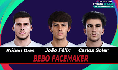 PES 2021 Faces Dias, Felix, Soler by Bebo