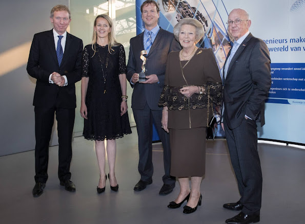 Princess Beatrix of The Netherlands and Princess Mabel of Orange-Nassau attended the 1st award ceremony of the Prince Friso Engineers award of the Engineer