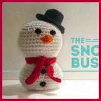 Muñequito de nieve amigurumi