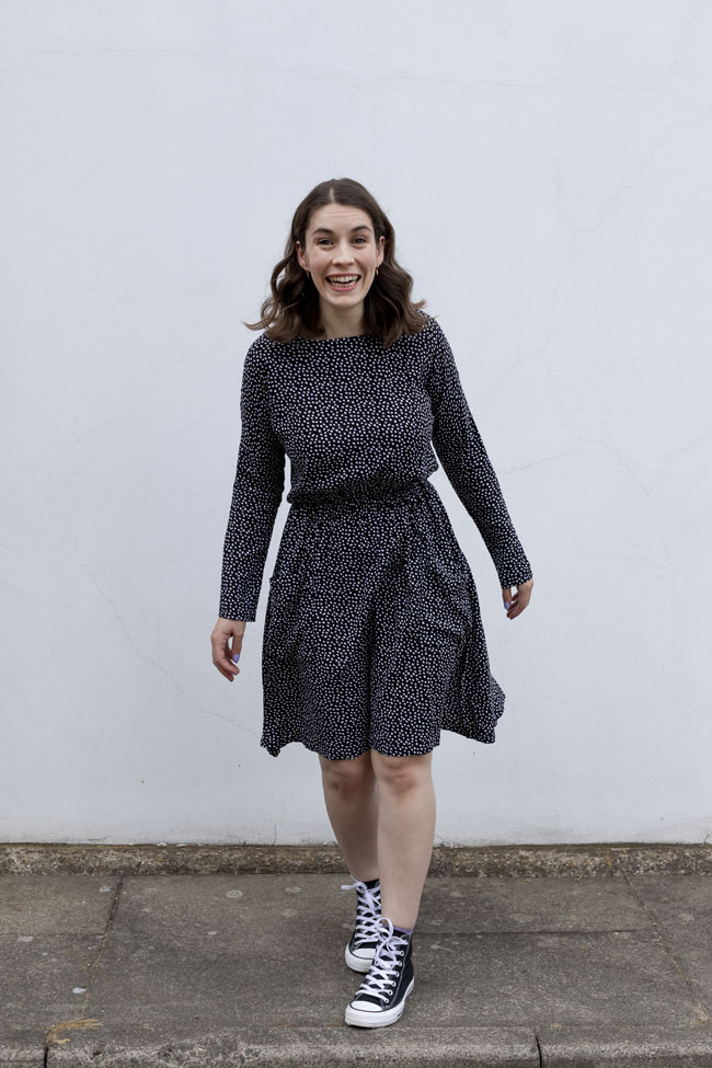 Nikki's Lotta dress - easy sewing pattern from Tilly and the Buttons