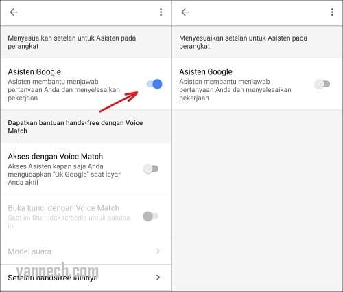 Cara Menonaktifkan Google Assistant di HP Android