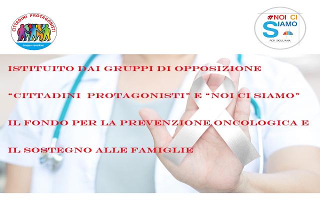 Istituito il fondo per la prevenzione oncologia e il sostegno alle famiglie