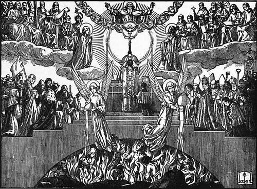''SEDE VACANTE'' par R.P. Joaquín Sáenz y Arriaga   - Page 9 Purgatory-mass