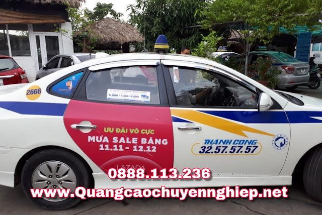 Dán quảng cáo trên Taxi Thành công tại Hà nội