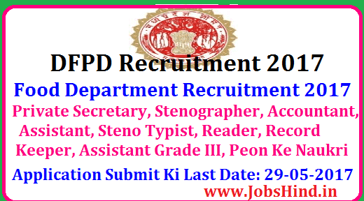 Food Department Recruitment 2017