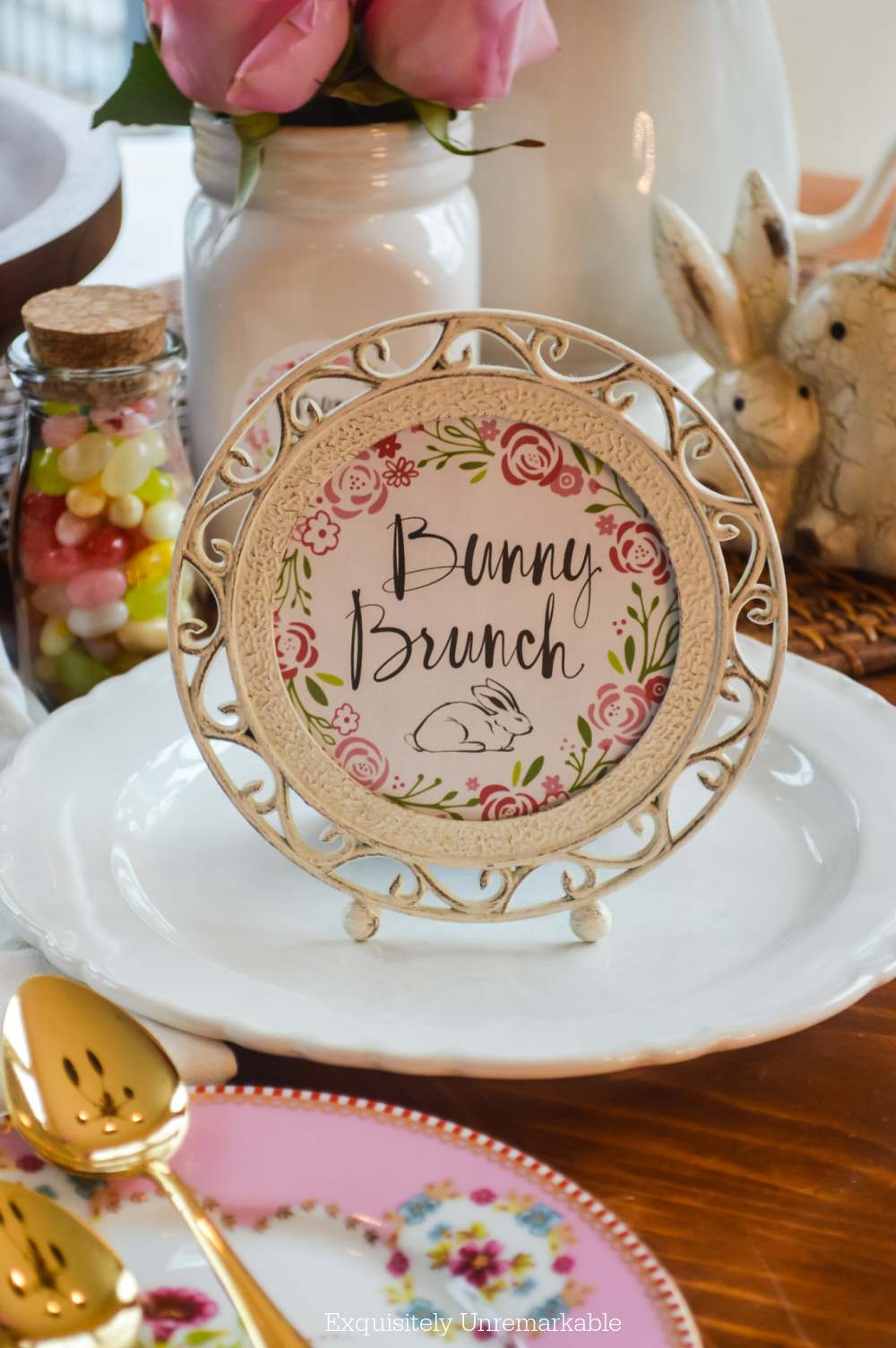 Bunny Brunch Table Setting