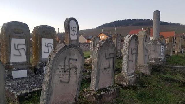 Antiszemita áll-liberálisok: zsidó sírokat gyaláztak meg Franciaországban