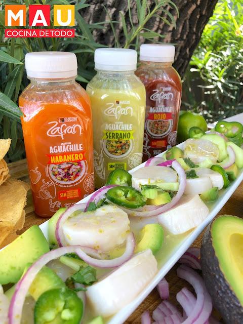 aguachile verde de callo de hacha zafran salsa mau cocina de todo receta