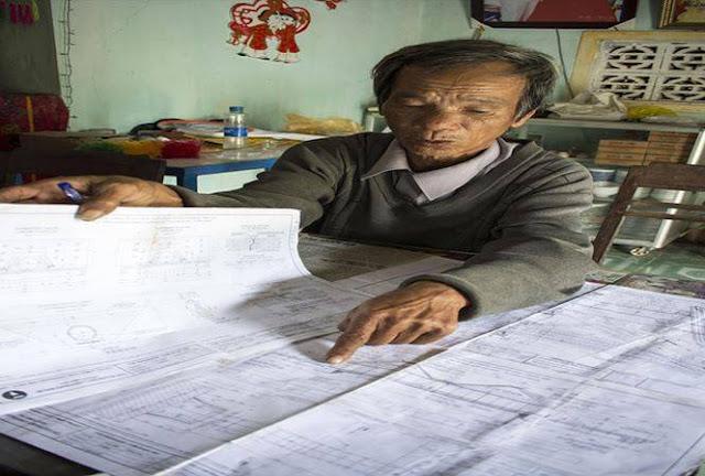 Thắng lợi của các lão nông là khi có được bản vẽ công trình trong tay