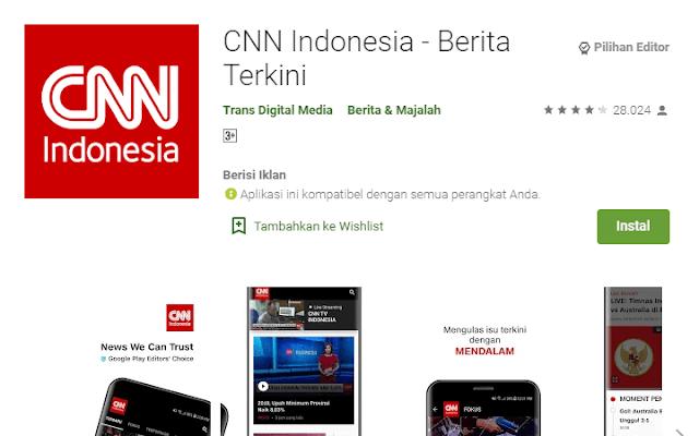 Aplikasi Berita CNN Indonesia