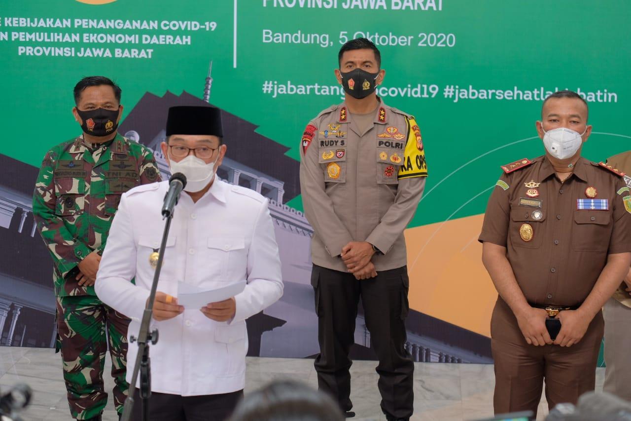 Gubernur Jabar : Kota Bandung Kembali Masuk Zona Merah