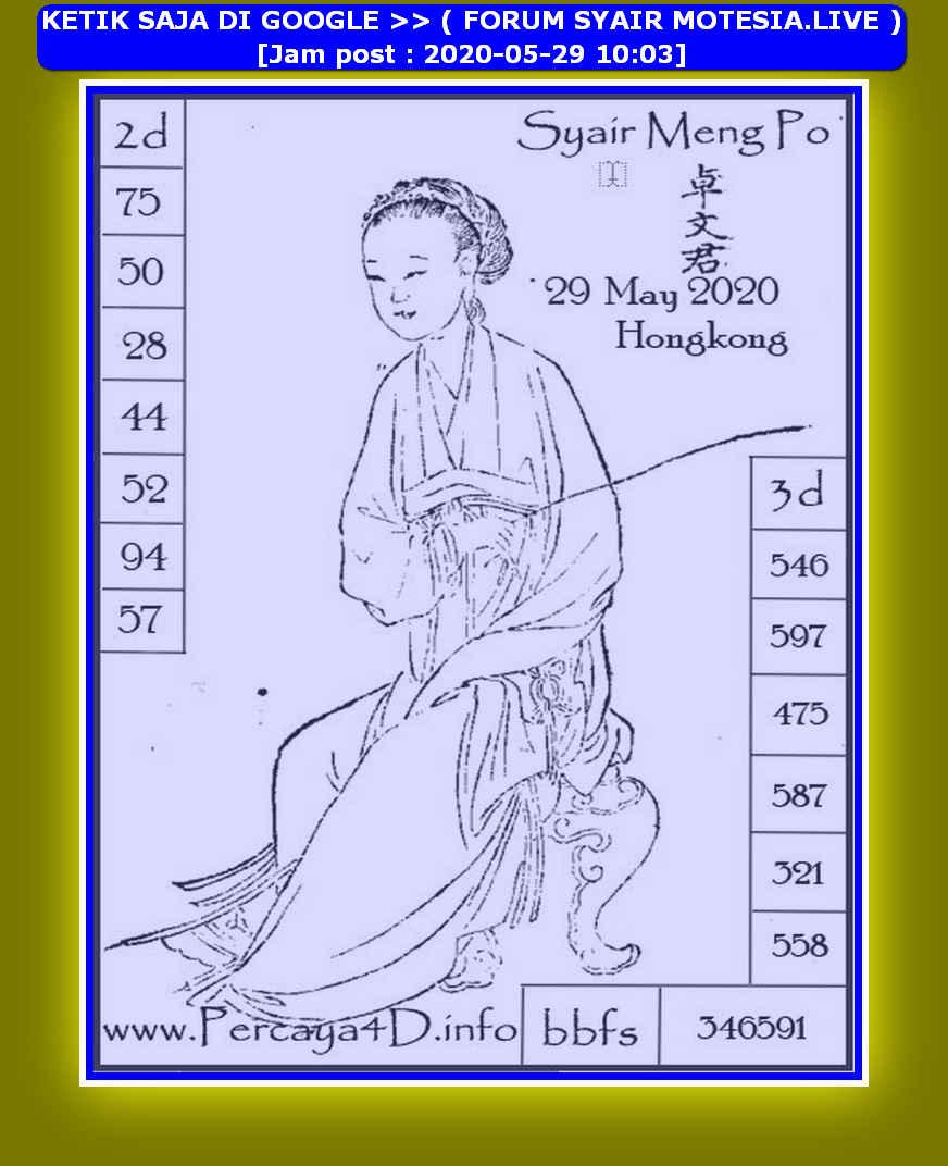 Kode syair Hongkong Jumat 29 Mei 2020 169