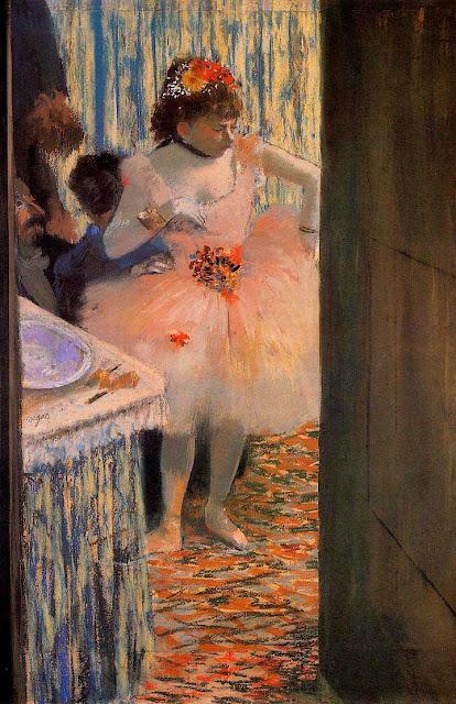 Эдгар Дега - Танцовщица в артистической уборной (1880)