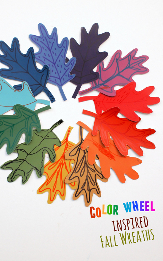 Easy Fall Art Activity- Make Color Wheel inspired Fall Wreaths (out of paint chips!)