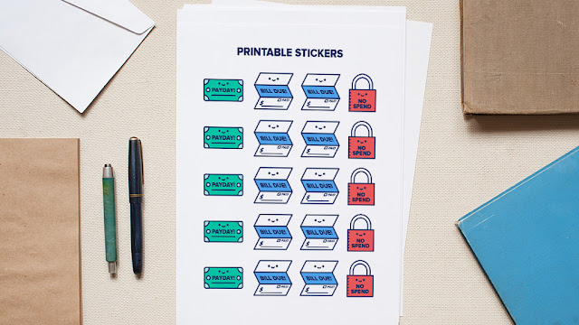 5 Budgeting Printable and Stickers