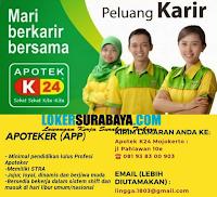 Karir Surabaya Terbaru di Apotek K24 Mojokerto Nopember 2019