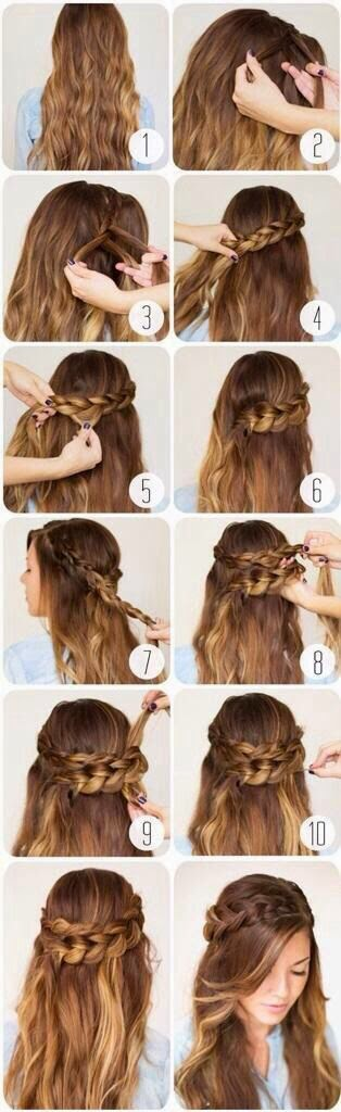 5 Cute Hairs tutorial For Valentine's Day