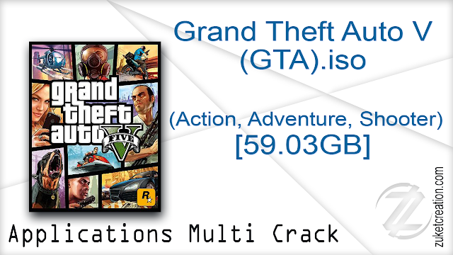 Grand Theft Auto V (GTA).iso (Action, Adventure, Shooter) [59.03GB]