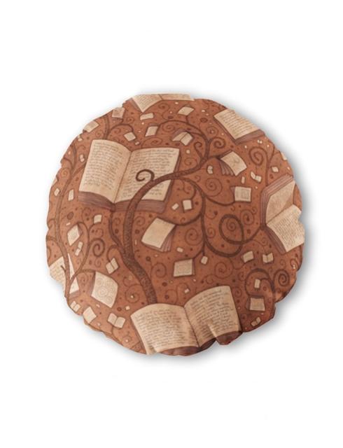 Bantal Buku Coklat Bundar
