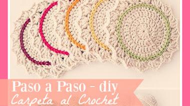 Carpeta o agarradera tejida al Crochet - DIY