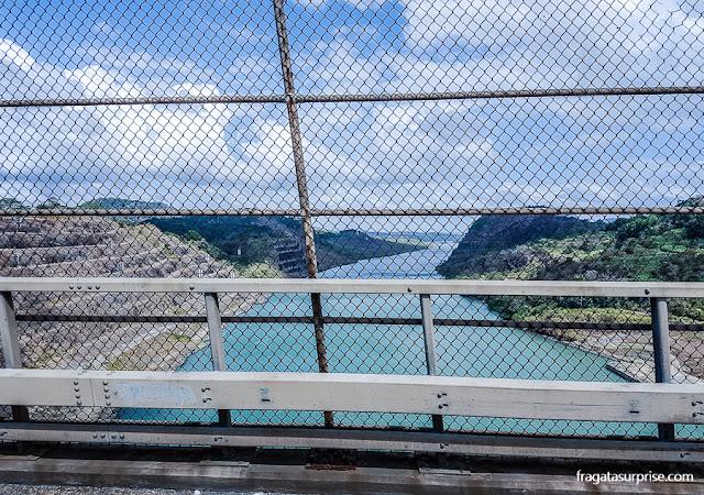 O Canal do Panamá visto da Ponte das Américas