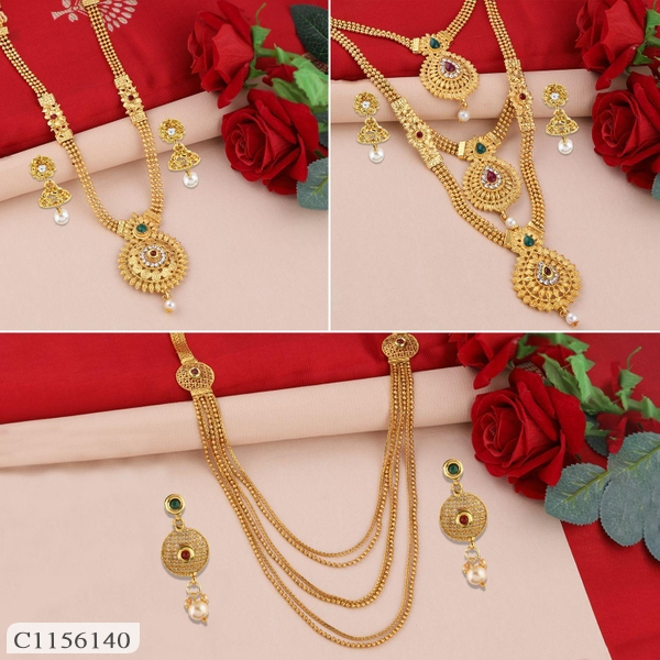 Contemporary Gold Plated Jewellery Set ( Buy 2 Get 1 Free) | Jewellery Set | Jewellery Set Online Shopping | Womens Jewellery Set Online | Online Shopping in India | Online Shopping
