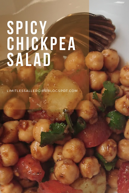pin image for Allergy Friendly Spicy Chichpea Salad