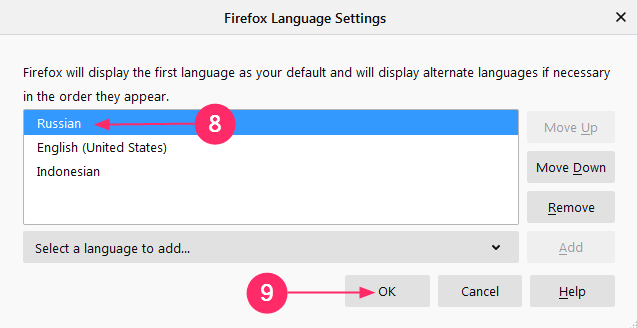 cara ubah bahasa mozilla firefox