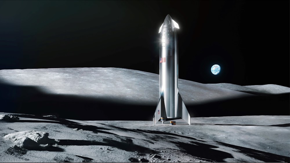 SpaceX Starship on the Moon HD